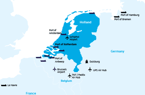 Port Hubs Europe the Netherlands
