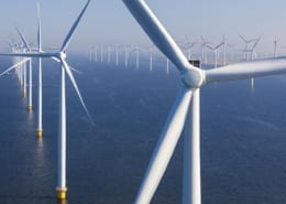 Offshore Wind turbines in the North-Sea