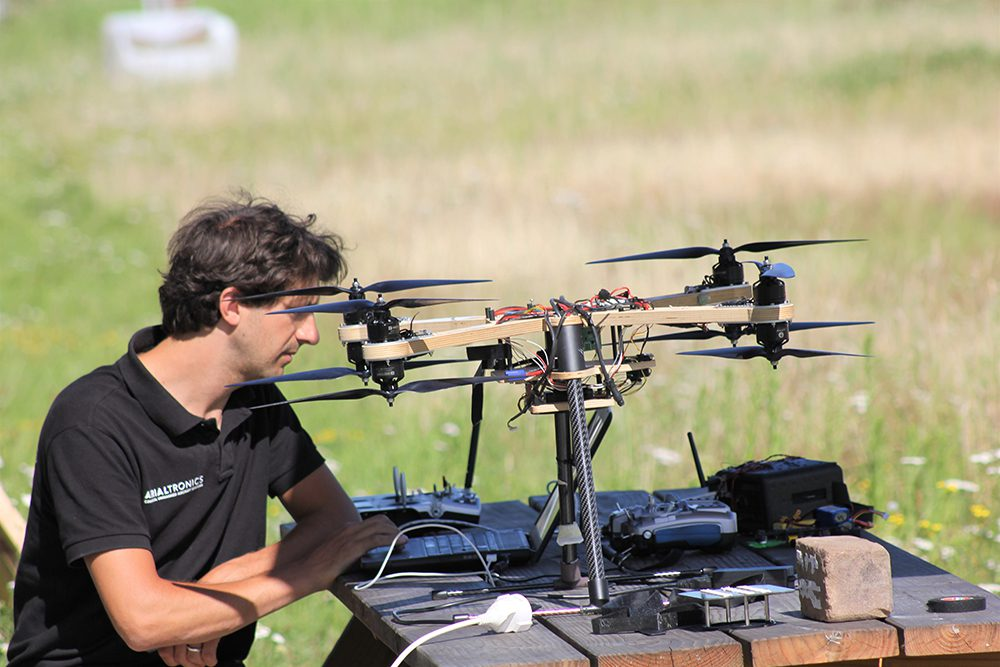 Drone testing at unmanned valley